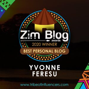 Best personal blog 2019, Yvonne Feresu announcement